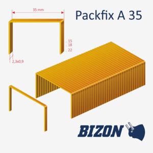 Скобы картонные типа Packfix A 35