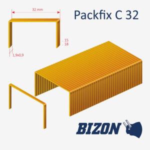 Скобы картонные типа Packfix C 32