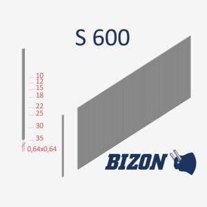 Тип штифтов без головки: S 600