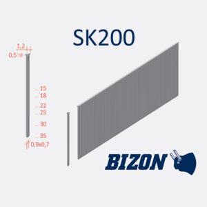 Шпильки с головкой типа: SK 200