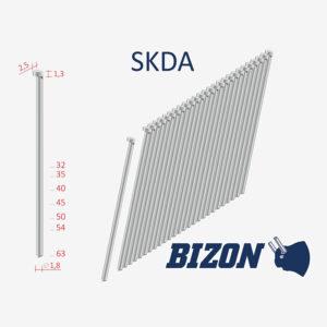 Штифты с головкой типа: SK DA